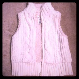 Artisan NY girls cable knit vest